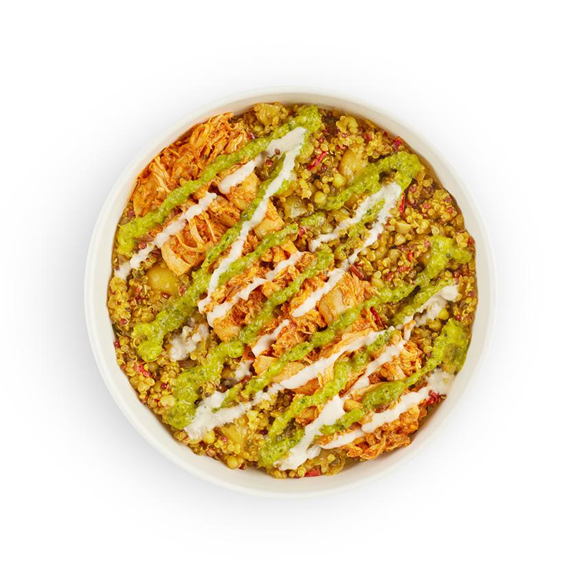 Chicken shawarma hot super grain salad